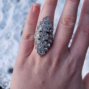 Vintage Art Deco Costume Ring, Statement Ring